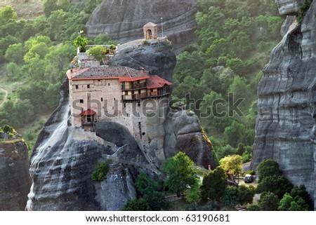 View of monastery of St. Nicholas Anapausas, Greece Stock photo © borisb17
