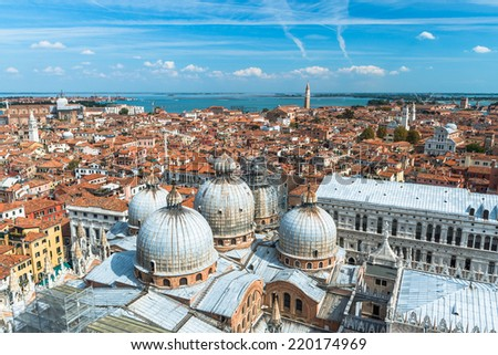 Aerial panorama of Venice with St Mark's Basilica and Doge's Palace. Venice, Italy Stock photo © dmitry_rukhlenko