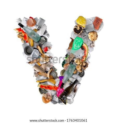 письме мусор изолированный белый продовольствие фрукты Сток-фото © grafvision
