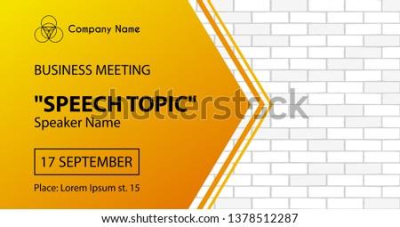 Business conference, corporate presentation vector concept metaphor. Stock photo © RAStudio