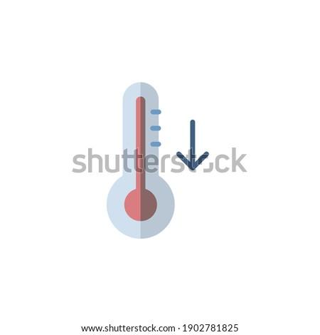 Thermometer vallen temperatuur icon weer geïsoleerd Stockfoto © Imaagio