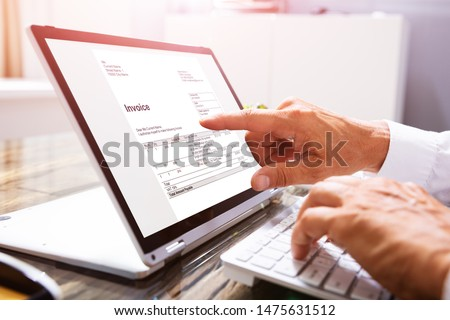 Corporativo eletrônico contabilidade software comprimido Foto stock © AndreyPopov