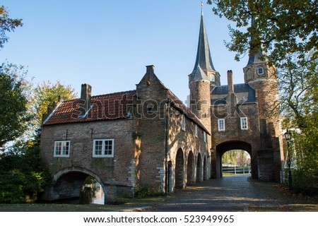 Oostport Eastern Gate of Delft. Delft, Netherlands Stock photo © dmitry_rukhlenko