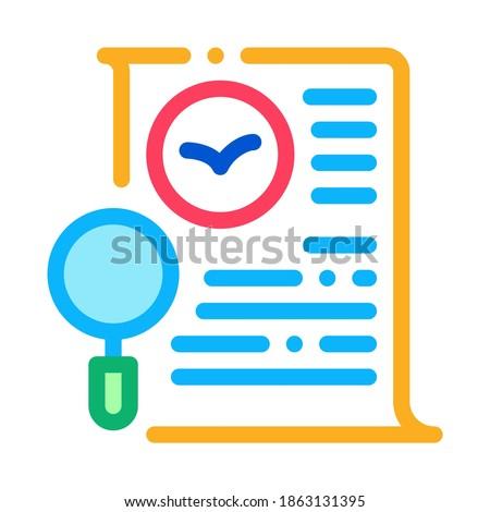 Oiseau document liste recherche icône léger Photo stock © pikepicture