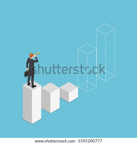 Business vision, prediction and forecasting vector concept metaphor. Stock photo © RAStudio