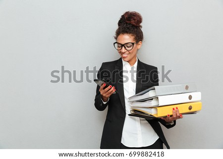 woman with the phone and folder stock photo © photography33