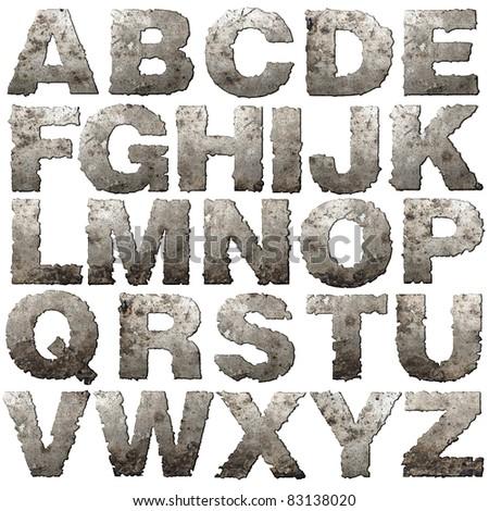 железной письма Torn край изолированный белый Сток-фото © Leonardi
