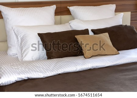 bed with several pillows Stock photo © ozaiachin