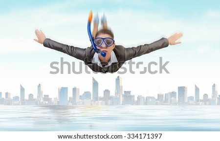 A businesswoman about to dive. Stock photo © photography33