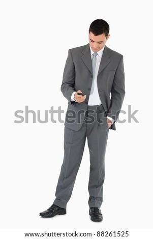 молодые · бизнесмен · чтение · белый · бизнеса · служба - Сток-фото © wavebreak_media