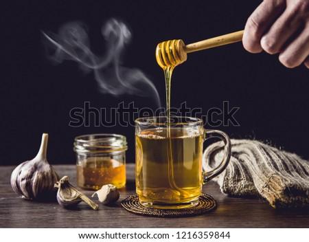 Méz felső bögre fekete étel háttér Stock fotó © wavebreak_media