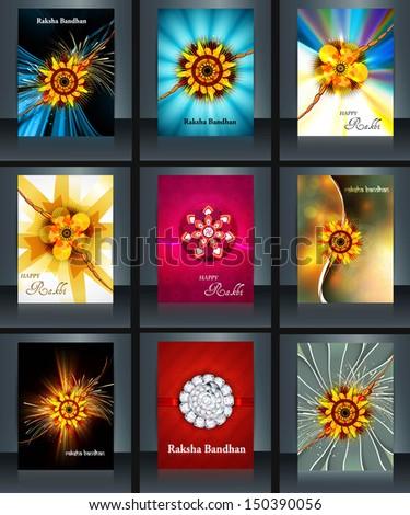 Raksha bandhan beautiful celebration 9 brochure collection prese Stock photo © bharat