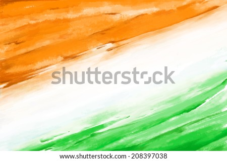 Indian Flag with Asoka wheel tricolor background vector illustra Stock photo © bharat