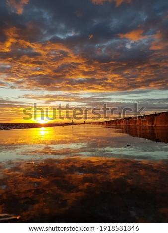 Güzel gün batımı güneş doğa manzara arka plan Stok fotoğraf © amok