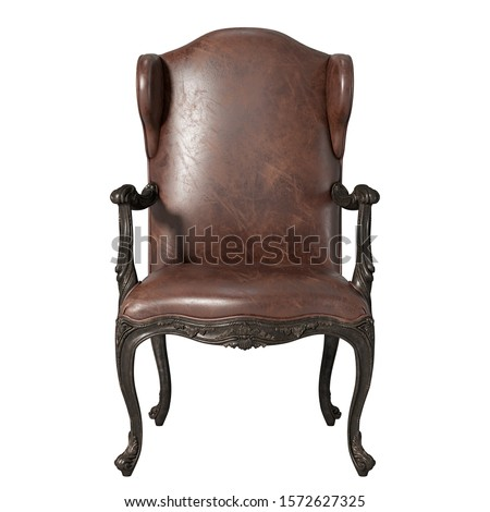Leather Chair isolated on white Stock photo © ozaiachin