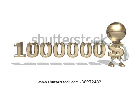 First million dollars, isolated 3D character on a white backgrou Stock photo © lem