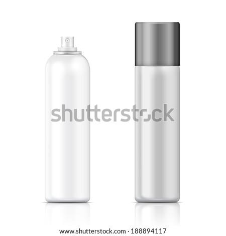Branco metal garrafa boné cosmético perfume Foto stock © netkov1