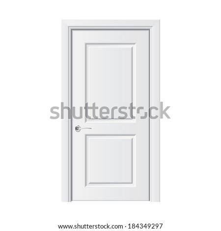 Fehér ajtó izolált üzlet építkezés absztrakt Stock fotó © netkov1