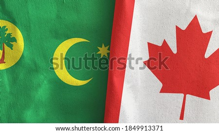 Canada and Cocos (Keeling) Islands Flags  Stock photo © Istanbul2009