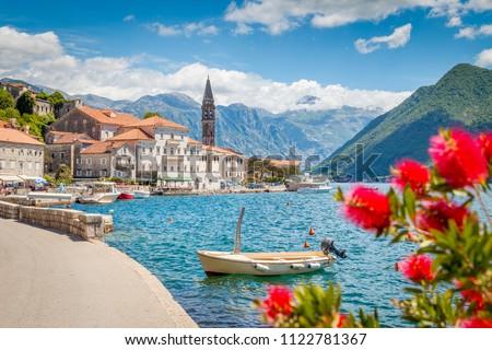 Черногория красивой пейзаж Средиземное море города ЮНЕСКО Сток-фото © vlad_star