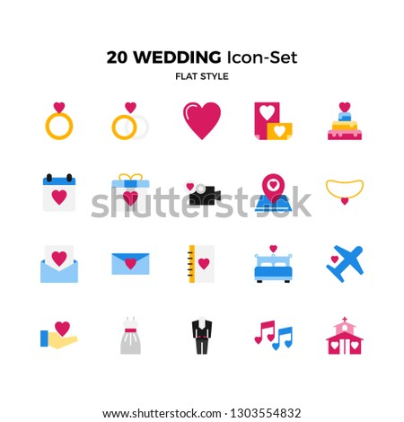 Stock photo: Diamond gold ring icon. Flat 2.0 vector design style with long shadow