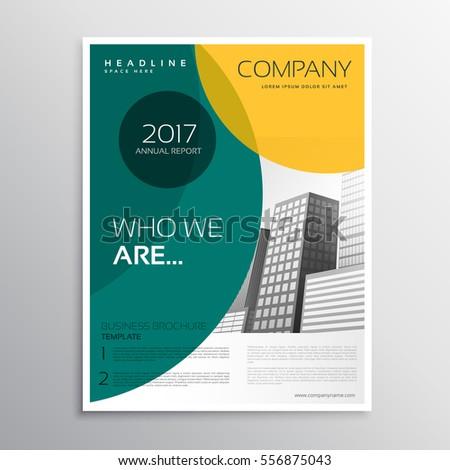 Сток-фото: удивительный · зеленый · желтый · брошюра · листовка · дизайна