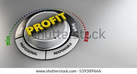illusztráció · nyereség · fogantyú · gomb · kapcsoló · magas - stock fotó © tussik