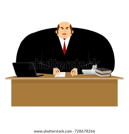 Big boss angry. Great boss is wicked. Business Vector Illustrati Stock photo © popaukropa
