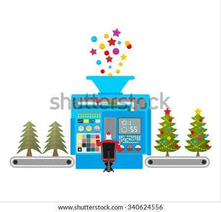 Fabbrica macchina bella Natale alberi Foto d'archivio © popaukropa