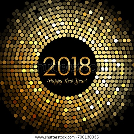 Vector Happy New Year 2018 Illustration on Shiny Lighting Background with Colorful Confetti and Typo Stock photo © articular