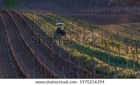 農業の · マシン · トラクター · 畑 · 春 - ストックフォト © FreeProd
