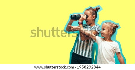 sisters with magazine stock photo © is2