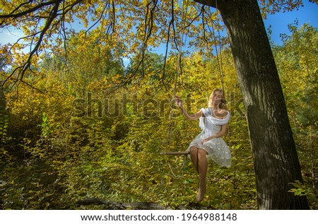 Ritratto bella signora fatto in casa swing bella donna Foto d'archivio © konradbak