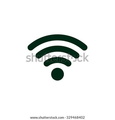 sem · fio · rede · símbolo · wi-fi · ícone · internet - foto stock © kyryloff