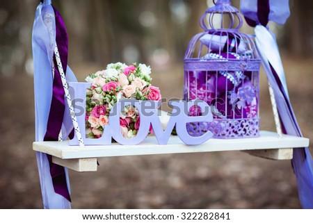 ślub dekoracji piękna bukiet huśtawka Zdjęcia stock © ruslanshramko