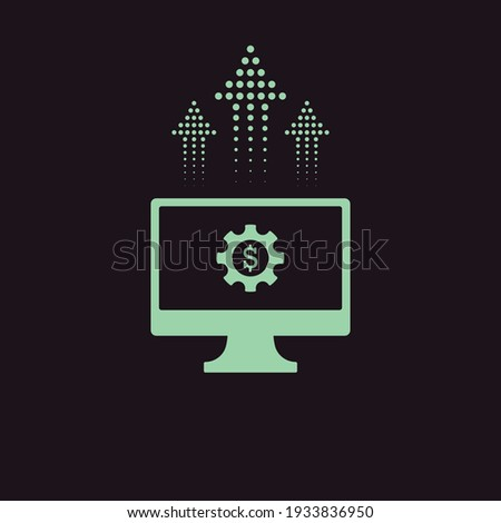 Icon of gear with dollar coin for fintech or financial development Stock photo © ussr