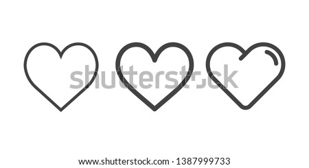 Stock photo: outline heart icon, vector illustration isolated on white backgr