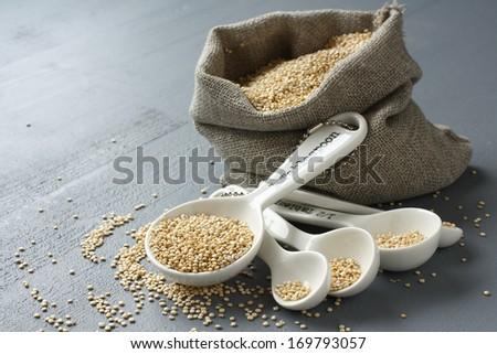 Сток-фото: зерна · небольшой · брезент · мешок