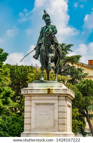 Monument to Vittorio Emanuele the second, King of Italy in the B Stock photo © boggy
