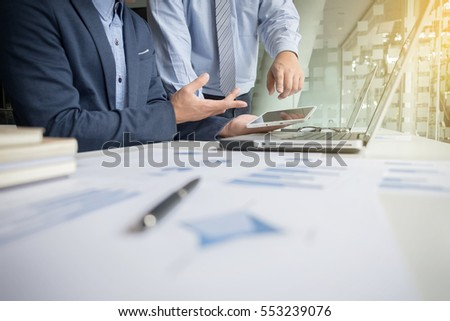 Team work process, Two business managers crew working with new s Stock photo © Freedomz