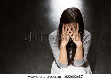 женщину человек конкретные матери портрет депрессия Сток-фото © Lopolo