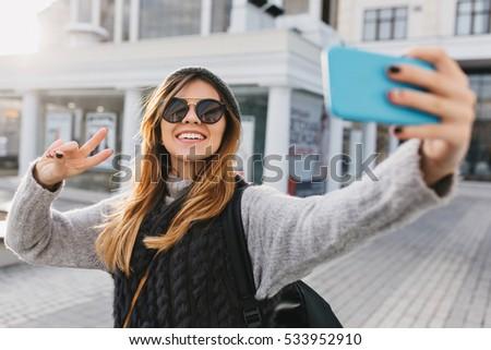 小さな 女性 サングラス 現代の ストックフォト © pressmaster