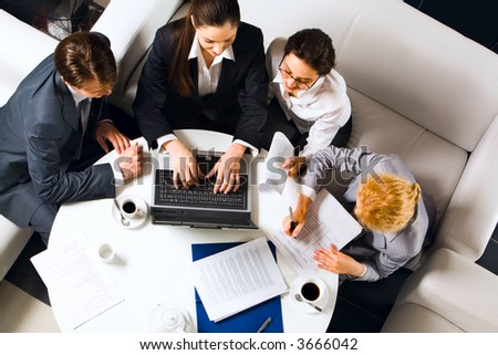 White round table and three chairs around on background of windowsill Stock photo © pressmaster