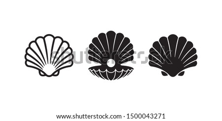 Vector Illustration with Beautiful Shell Isolated on Transparent Background. Vector Nature Sea Desig Stock photo © articular