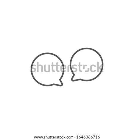 Two Speech bubbles icon. two round speech bubbles. Editable stroke. Stock Vector illustration isolat Stock photo © kyryloff