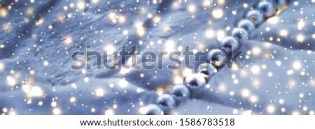 Winter vakantie sieraden mode parel ketting Stockfoto © Anneleven