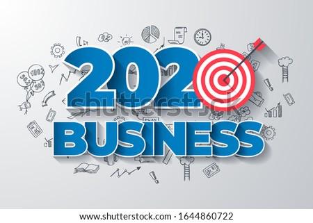 Creative Business Thinking within 2020 Year. Web Design Template. Stock photo © tashatuvango