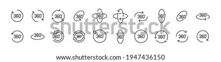 Angle 360 degrees rotation sign icon. Geometry math symbol. Full rotation. Stock Vector illustration Stock photo © kyryloff