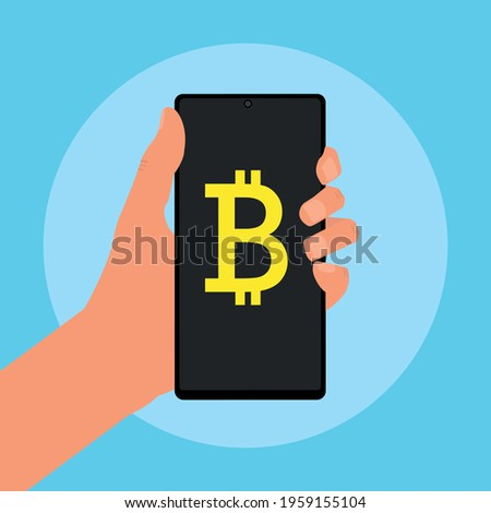 Smartphones with cryptocurrency exchange finance operation. Dollar to bitcoin, litecoin, ethereum. V Stock photo © karetniy