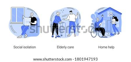 Social apoyo servicios resumen vector ilustraciones Foto stock © RAStudio